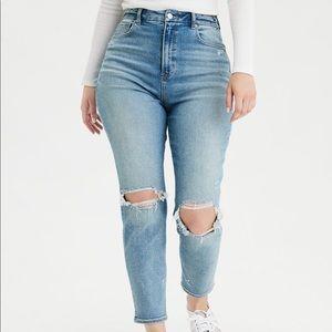 AE mom curvy jeans